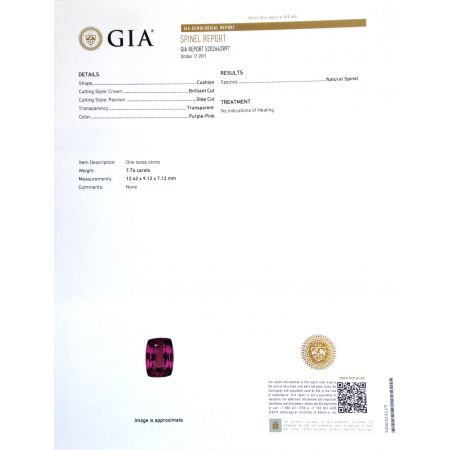 Natural Purple-Pink Spinel 7.74 carats