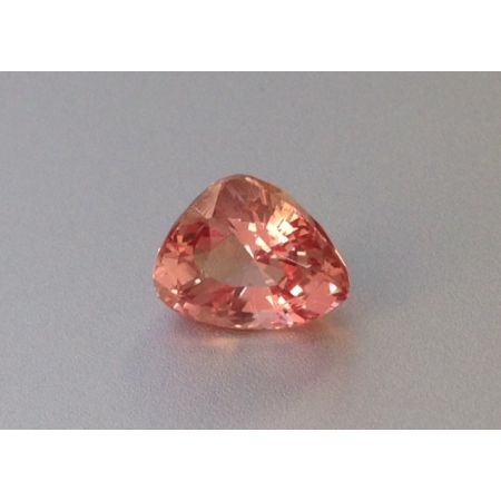 Natural Heated Padparadscha Sapphire pinkish orange color triangular shape 1.93 carats with GIA Report / video