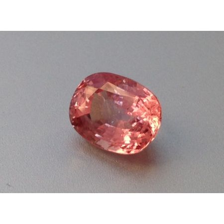 Natural Heated Padparadscha Sapphire pinkish orange color cushion shape 2.27 carats with GIA Report - sold