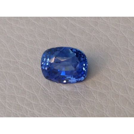 Natural Unheated Blue Sapphire blue color great luster cushion cut 2.96 carats with GIA Report / video - sold