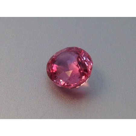 Natural Heated Padparadscha Sapphire orange-pink color oval shape 1.44 carats with GRS Report
