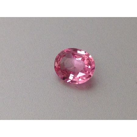 Natural Heated Padparadscha Sapphire orangy-pink color oval shape 0.61 carats with GRS Report - sold