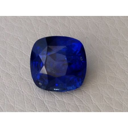 Natural Heated Blue Sapphire deep blue color cushion shape 6.49 carats with GIA Report / video