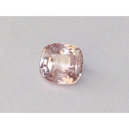 Natural Heated Padparadscha Sapphire pinkish-orange color cushion shape 1.40 carats with GRS Report