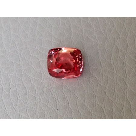 Natural Heated Padparadscha Sapphire pinkish-orange color cushion shape 2.50 carats with GRS Report