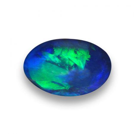 Black Boulder Opal multi color oval shape 1.33 carats