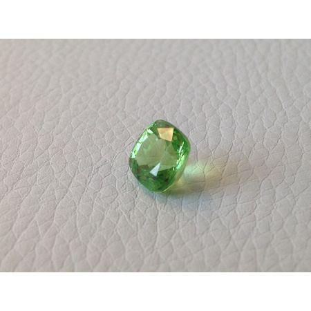 Natural Tsavorite light  green color cushion shape 3.28 carats / video