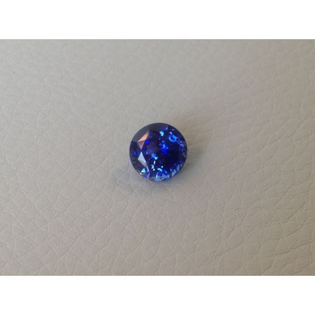 Natural Heated Blue Sapphire blue color round shape 2.56 carats with GIA Report / video - sold