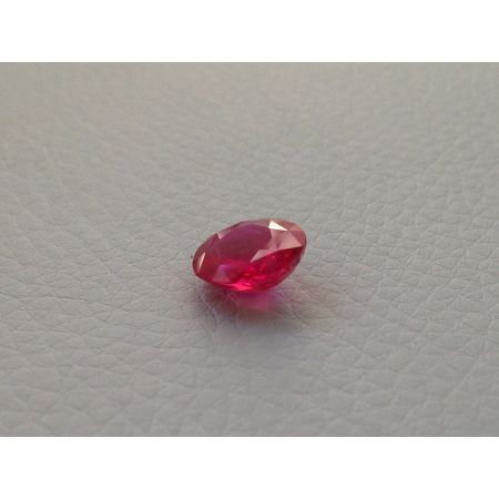 Natural Unheated Ruby purplish red color oval shape 3.03 carats with GIA Report / video