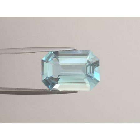 Natural Aquamarine light blue color radiant shape 10.70 carats
