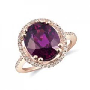 Purple Grape Garnet Rings