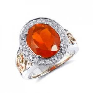 Mexican Fire Opal Rings